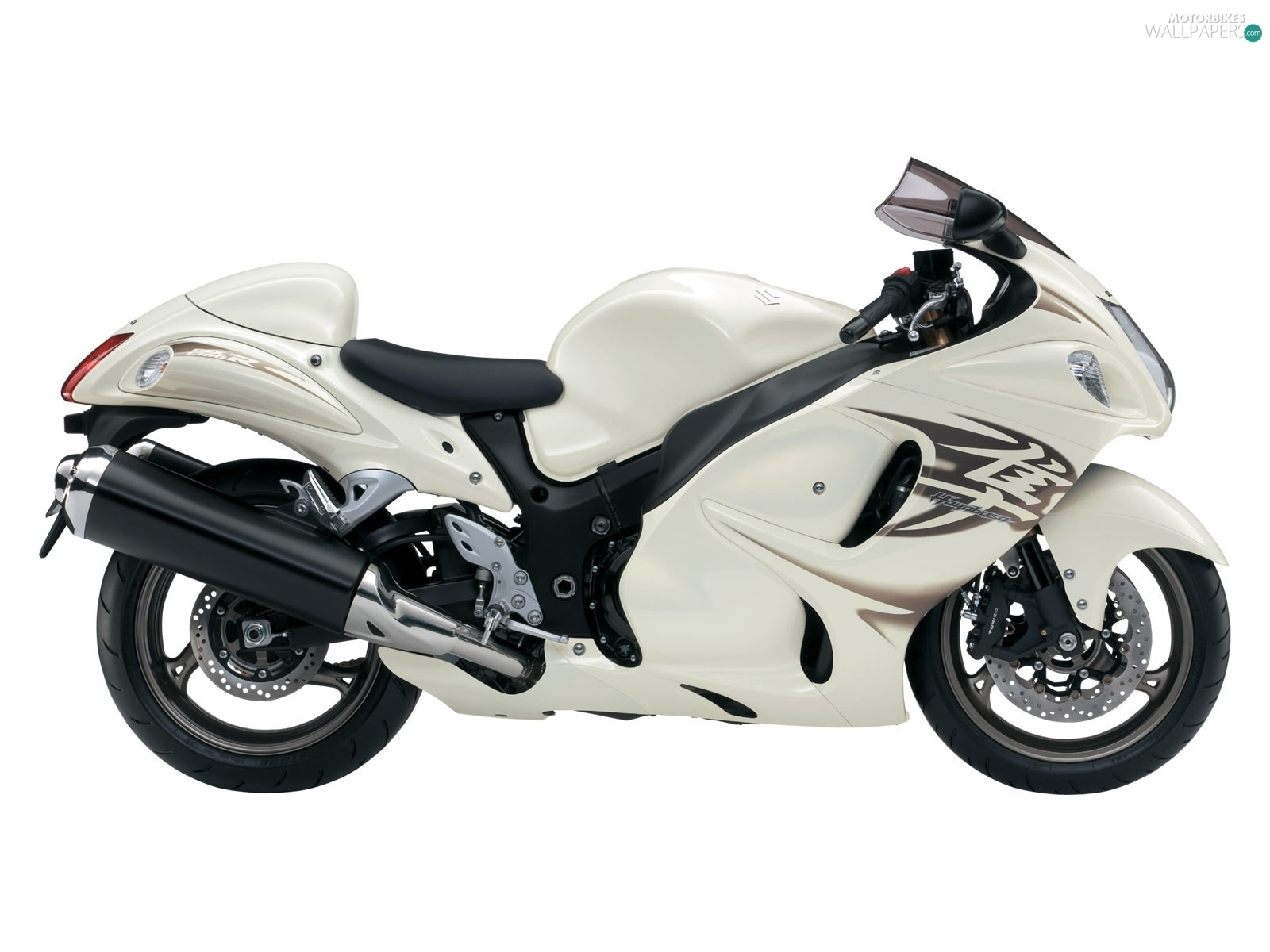 silencer, White, suzuki GSX 1300R Hayabusa - Motorbikes ...  silencer, White...
