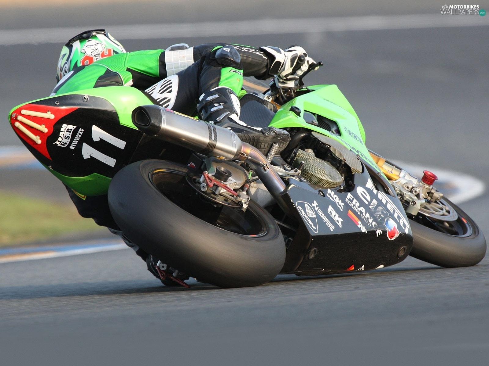 Track, Kawasaki Ninja ZX-10R, tires - Motorbikes